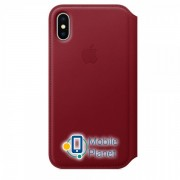 Аксессуар для iPhone Apple Leather Folio Case Red (MRQD2) for iPhone X