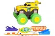 Машинка на бат. Trix Trux набор с трассой (желтый) (JLT-AS331Y)