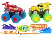 Машинки на бат. Trix Trux набор 2 машинки с трассой (красный+желтый) (JLT-AS332RY)