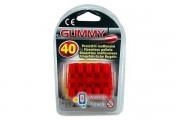 Пульки резиновые для игрушечного пистолета EDISON калибр 8мм 40шт (410/42) (ED-0410420)