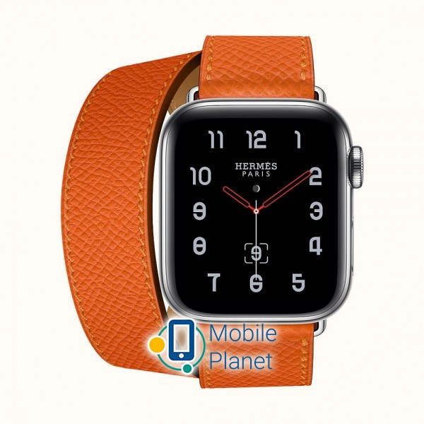 4591096d Apple Watch Hermes Series 4 (GPS Cellular) 40mm Stainless Steel Case with  Feu Epsom