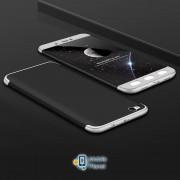 Пластиковая накладка GKK LikGus 360 градусов для Xiaomi Redmi Note 5A / Redmi Y1 Lite Черный / Серебряный (00000023985_7)