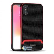Чехол iPaky TPU+PC для Apple iPhone XS Max (6.5) (4 цвета) цвет черный / красный (00000026656_3)