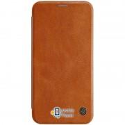 Кожаный чехол (книжка) Nillkin Qin Series для Apple iPhone XS Max (6.5) (3 цвета) цвет коричневый (00000026327_2)