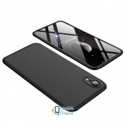 Пластиковая накладка GKK LikGus 360 градусов для Apple iPhone XR (6.1) цвет черный (00000026690_2)