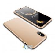 Пластиковая накладка GKK LikGus 360 градусов для Apple iPhone XS Max (6.5) (5 цветов) цвет золотой (00000026689_4)