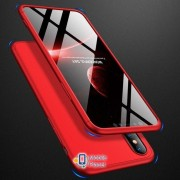 Пластиковая накладка GKK LikGus 360 градусов для Apple iPhone XS Max (6.5) (5 цветов) цвет красный (00000026689_1)