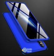 Пластиковая накладка GKK LikGus 360 градусов для Apple iPhone XS Max (6.5) (5 цветов) цвет синий (00000026689_7)