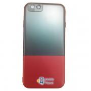 Пластиковая накладка Half Color для Apple iPhone 7 plus / 8 plus (5.5) , цвет черный / красный (00000019426_2)