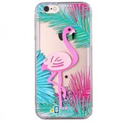 Пластиковая накладка Shine Flamingo для Apple iPhone 7 / 8 (4.7) (1 цвет) цвет зеленые листья (Бренд Rebus) (00000025229_1)