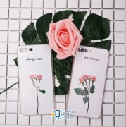 TPU чехол Flowers (soft touch white) для Apple iPhone 7 / 8 (4.7
