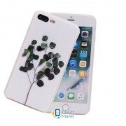 TPU чехол Flowers (soft touch white) для Apple iPhone 7 plus / 8 plus (5.5