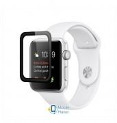 Защитное цветное 3D стекло Mocolo (full glue) для Apple Watch (42mm) Черное (00000028610_1)