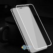 Защитное цветное стекло Mocolo (full glue) на весь экран для Apple iPhone XS Max (6.5) (2 цвета) цвет белое (00000027407_1)