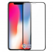 Защитное цветное стекло Mocolo (full glue) на весь экран для Apple iPhone XS Max (6.5) (2 цвета) цвет черное (00000027407_2)