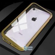 Metal+Glass чехол с магнитной защелкой для Apple iPhone 7 / 8 (4.7