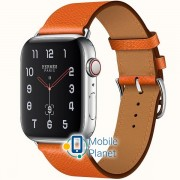Apple Watch Hermes Series 4 (GPS Cellular) 44mm Steel Case with FEurope Epsom (H077053CJ9J)