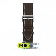 Apple Watch Hermès - 44mm Ébène Barenia Leather Single Tour Deployment Buckle (MTQG2)
