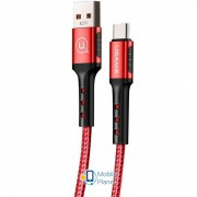 Дата кабель USAMS US-SJ289 USB to Type-C (1.2m) красный (00000029294_2)