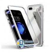 Metal+Glass чехол с магнитной защелкой для Apple iPhone 7 plus / 8 plus (5.5