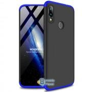 Пластиковая накладка GKK LikGus 360 градусов для Xiaomi Redmi Note 7 / Note 7 Pro / Note 7s черный / синий (00000029901_9)