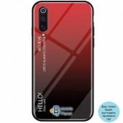 TPU+Glass чехол Gradient HELLO для Xiaomi Redmi Go красный (00000029968_1)