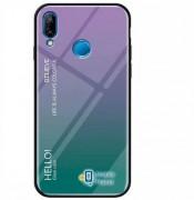 TPU+Glass чехол Gradient HELLO для Xiaomi Redmi Note 7 / Note 7 Pro / Note 7s фиолетовый (00000029967_4)