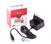 Raspberry Pi Zasilacz, USB-C, 5,1V / 3A (SC0217) EU