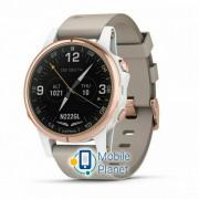 Garmin D2 Delta S Watch White/rose Gold Band 42mm (010-01987-30)