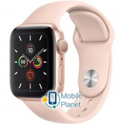 Apple Watch Series 5 (GPS) 40mm Gold Aluminum Case with Pink Sand Sport Band (MWV72)