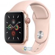 Apple Watch Series 5 (GPS Cellular) 40mm Gold Aluminum Case with Pink Sand Sport Band (MWWP2)