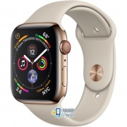 Apple Watch Series 5 (GPS Cellular) 40mm Gold Stainless Steel Case with Stone Sport Band (MWX62)