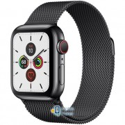 Apple Watch Series 5 (GPS Cellular) 40mm Space Black Stainless Steel Case with Space Black Milanese Loop (MWWX2)