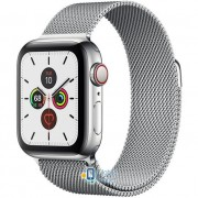 Apple Watch Series 5 (GPS Cellular) 40mm Stainless Steel Case with Silver Milanese Loop (MWWT2)