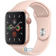 Apple Watch Series 5 (GPS Cellular) 44mm Gold Aluminum Case with Pink Sand Sport Band (MWW02)