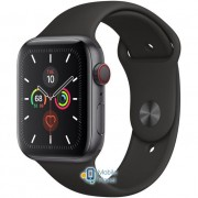 Apple Watch Series 5 (GPS Cellular) 44mm Space Gray Aluminum Case with Black Sport Band (MWW12)