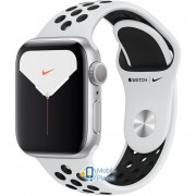Apple Watch Nike Plus Series 5 (GPS) 40mm Silver Aluminum Case with Pure Platinum/Black Nike Sport Band (MX3R2)