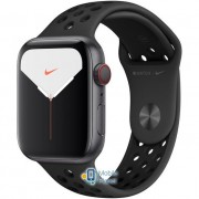 Apple Watch Nike Plus Series 5 (GPS Cellular) 44mm Space Gray Aluminum Case with Anthracite/Black Nike Sport Band (MX3A2)