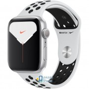 Apple Watch Nike Plus Series 5 (GPS) 44mm Silver Aluminum Case with Pure Platinum/Black Nike Sport Band (MX3V2)
