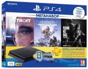 SONY PS4 1 TB Black Slim Plus HZD Plus The Last of Us Plus Detroit Plus PSPlus 3М