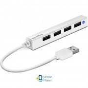 Speedlink SNAPPY SLIM USB Hub, 4-Port, USB 2.0, Passive, White (SL-140000-WE)