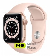 Apple Watch Series 6 40mm Gold Aluminium Case with Pink Sand Sport Band (MG123)