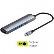 USB-Hub Baseus Mechanical 6 in 1 Grey (CAHUB-J0G)